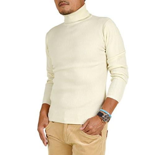 【サンタリート】 Santareet カシミヤタッチ タートルネック リブ編み セーター PV-5121009 L オフホワイト