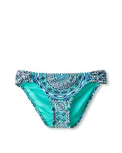 Jessica Simpson Women's Gypsy Life Side Shirred Bikini Bottom  [Moss]