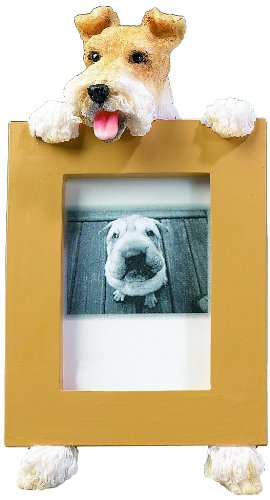 Wirefox Terrier Black/White Dog - 2 1/2'' X 3 1/2'' Photo/Picture Frame front-9047