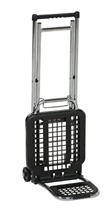 "Vestil LC-803 Multi-Function Luggage Cart/Chair, 3"" x 3/4"" Wheel, Chair 65 lbs and Luggage 225 lbs Capacity, Folded 4"" Length x 12"" Width x 36-1/2"" Height"