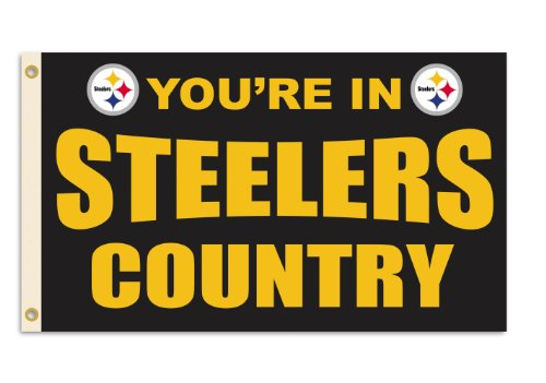 NFL men,unisex-adult,women 3-by-5 Foot Flag With Grommets at Steeler Mania