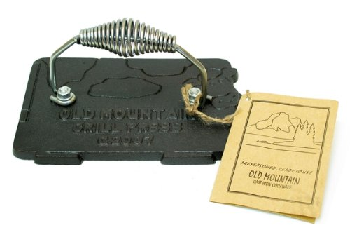 Old Mountain Cast Iron Cow Grill Press front-40696