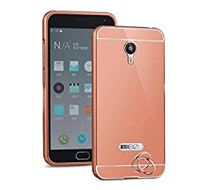 Aart Luxury Metal Bumper + Acrylic Mirror Back Cover Case For meizummeizum2 RoseGold+ Flexible Portable Mount Cradle Thumb OK Designed Stand Holder