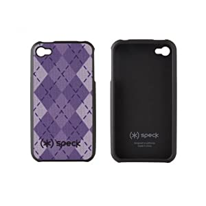 Speck Products Fitted Case for iPhone 4 (Purple Argyle)