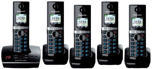 Panasonic KX-TG8065 Quint Cordless Phone with Answering Machine ( DECT,Hands Free Functionality ) picture