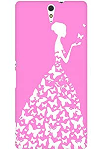 AMEZ designer printed 3d premium high quality back case cover for Sony Xperia C5 (baby pink white girl princess)