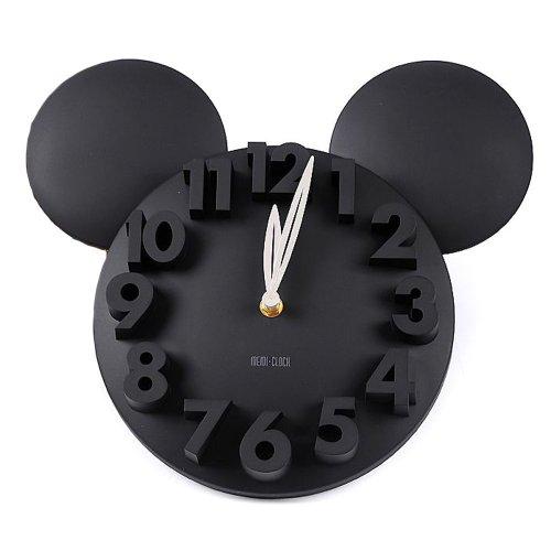 Busen Modern Design Mickey Mouse Big Digit 3d Wall Clock Hom