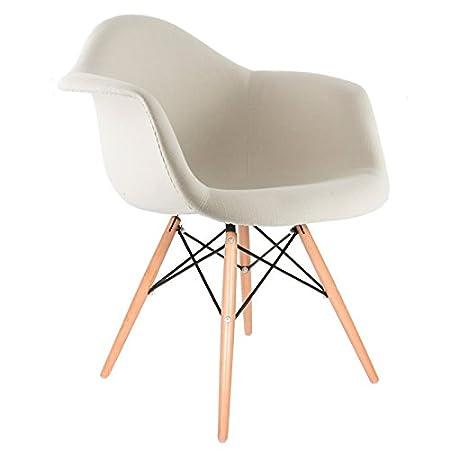 DAW gepolsterter Sessel - Beige, Natur