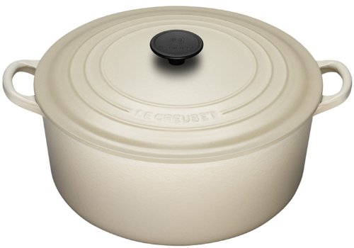 gilalole le creuset cocotte ronde en fonte amande 28 cm import grande bretagne. Black Bedroom Furniture Sets. Home Design Ideas