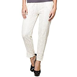 CJ15 Regular fit white color jeggings for women