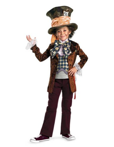 Mad Hatter Deluxe Child 7-8 Kids Boys Costume