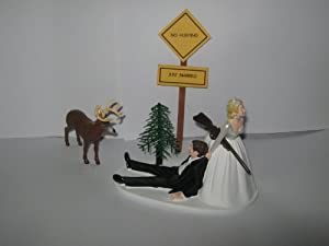 Redneck Wedding Deer sign Hunter Hunting Cake Topper: Kitchen & Dining