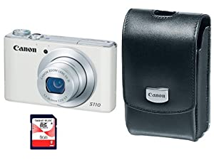 Canon PowerShot S110 Silver 12.1 Megapixel Digital Camera Kit