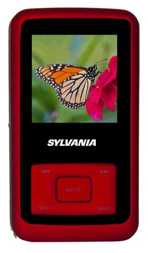 Sylvania 2GB MP3 Player with Video and Rubberized Finish (Red)