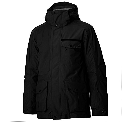 Planet Earth Men's Gabriel Insulated Jacket, Black, Large