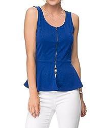Lurap Women's Blue Dove Peplum Top - Regular & Plus Size