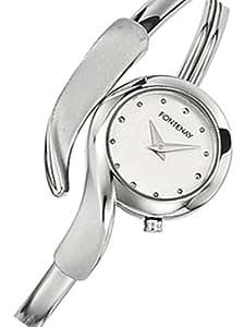 montre femme bracelet rigide argent