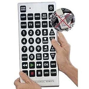Jumbo Universal TV, Remote Giant Big Massive Buttons. TV, Satillite, DVD, VCR, Cable