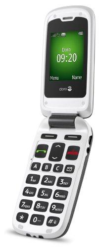 Doro PhoneEasy 605 GSM Mobiltelefon Klapphandy mit großen Tasten und großem Display inkl. Notruftaste schwarz / weiß