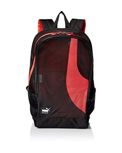 PUMA Men's Mesh Backpack, Black/Red