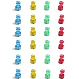 Vilros Magnetic Push Pins -- High Grade Neodymium N48 Fridge Magnets (24 Pack)