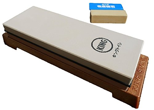 King Japanese Grit 1000/6000 Combination Sharpening Stone KW-65 and King #8000 Nagura Stone : Bundle - 2 Items (1000 8000 Grit compare prices)