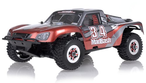 1/8th Exceed RC Madbash Nitro Powered Almost Ready to Run ARTR Racing Edtion Rally .28 Engine Car Bravo Red