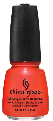 China Glaze Nail Polish, Surfing For Boys, 0.5 Fluid Ounce (Red Orange Nail Polish compare prices)