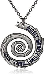 "Doctor Who 22"" Wibbly Wobbly Timey Wimey Pendant Necklace (Silver-Tone)"