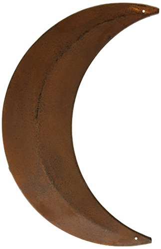 CWI Gifts Moon Wall Decor, 12-Inch, Rust/Black