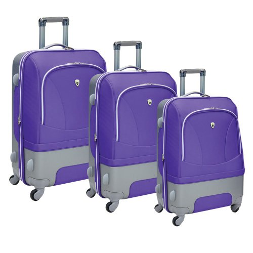 Olympia Luggage Majestic 3 Pack Expandable Set, Plum, One Size top deals