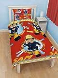 Fireman Sam 'Alarm' Single Reversible Rotary Duvet Cover & Pillowcase Set