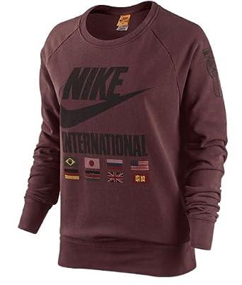 Nike Ladies Sweatshirt in Maroon, Size M, Colour Maroon