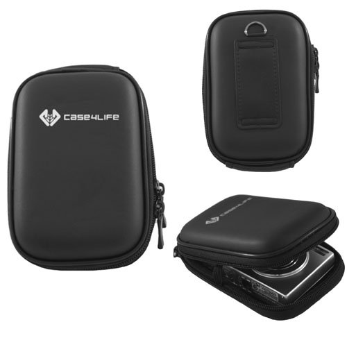 Case4Life Hardcase Kameratasche fuer Casio Exilim EX-S10, EX-S12, EX-S200, EX-Z1, EX-Z16, EX-Z2, EX-Z2000, EX-Z2300, EX-Z25, EX-Z270, EX-Z280, EX-Z29, EX-Z33, EX-Z330, EX-Z35, EX-Z350, EX-Z400, EX-Z450, EX-Z550, EX-Z670, EX-Z800, EX-Z85, EX-Z90, EX-ZS10, EX-ZS5, EX-H30, EX-FC100, EX-FH100, EX-FS10, EX-H10, EX-H15, EX-ZR100, EX-ZR10, EX-Z37, EX-Z26, EX-ZS100, EX-SZ150, EX-ZR200, EX-ZS12, EX-ZS20, EX-ZS6 &#208; lebenslange Garantie