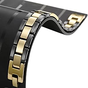 Dazzling Tungsten Desert Gold Black Men's Link Bracelet Jewelry