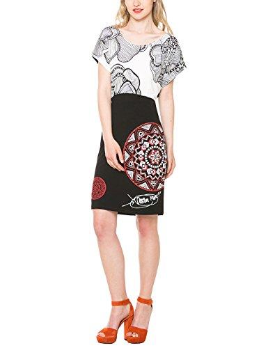 Desigual Damen A-Linie Kleid BLACKKULLE, Knielang, Gr. 36 (Herstellergröße: M), Schwarz (NEGRO 2000) thumbnail