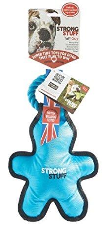 ストロング・スタッフ タフガイ(ブルー) - (引っ張る、丈夫、 犬のおもちゃ、犬用おもちゃ、ドッグトイ、ストレス解消、中型犬、大型犬)Strong Stuff Tuff Guy