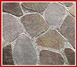 ジャワテッペイ 鉄平石 ( 乱形 石材 )1ケース約0.4m2入 ガーデニング 石材