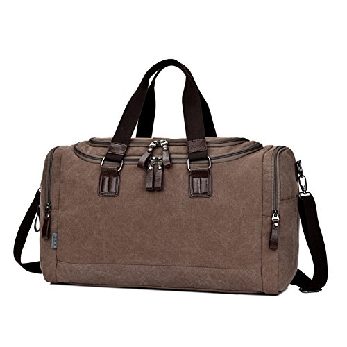 Toupons Stylish Vintage Small Medium Canvas Duffle Bag for Men Weekend Travel Luggage Tote Lightweight Carry on Bags