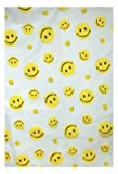 Carnation Home Fashions 6-Feet by 6-Feet Vinyl Print Shower Curtain, Happy Face
