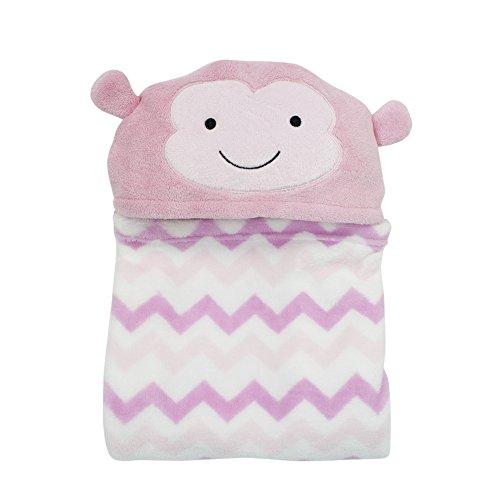 Bedtime Originals Pinkie Hooded Coral Fleece Blanket - 1