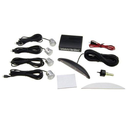 4 Parking Sensors Car Led Display Reverse Backup Radar Kit front-1077315