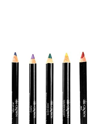 crown brush Women's 5-Piece Eye Pencil Set, Basics