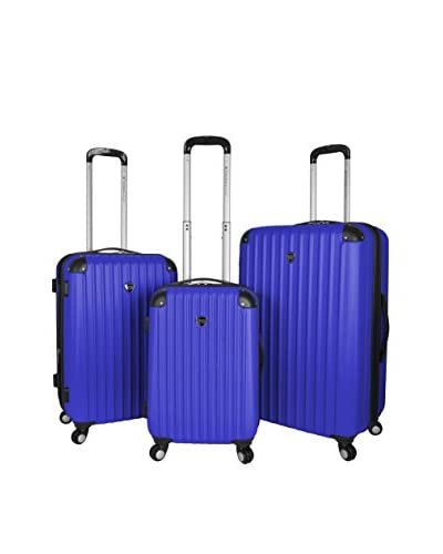 Travelers Club Chicago Collection 3-Piece ABS Luggage Set with a 360˚ Wheel System