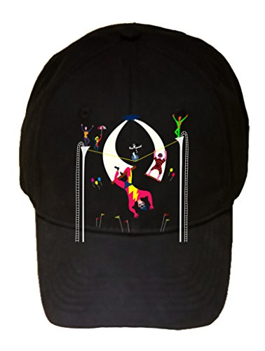 """Acrobats At Circus"" Colorful Artwork - 100% Cotton Adjustable Hat front-1067649"