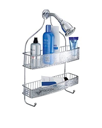 InterDesign Rain Wide Shower Caddy, Clear As You See