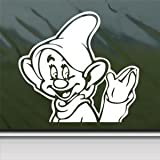 Dopey Snow White 7 White Sticker Decal Dwarfs Wave Disney White Car Window Wall Macbook Notebook Laptop Sticker Decal