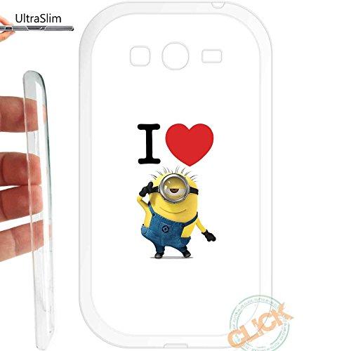 Custodia cover TPU GEL SLIM per Samsung Galaxy Grand Neo plus i9060 069 minion love