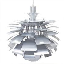 """Hot Sale LexMod 24"""" Artichoke Style Chandelier Modern Lamp in Silver"""