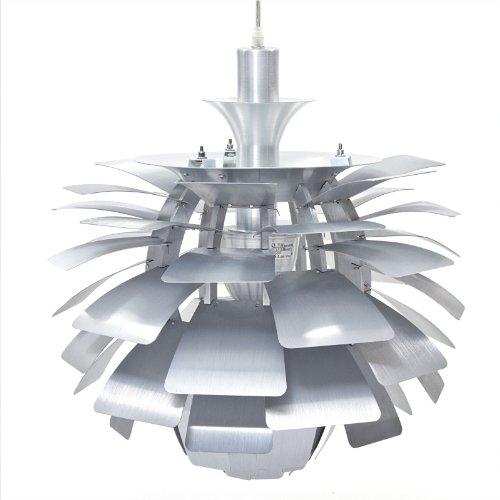 B007VLX8ZK LexMod 24″ Artichoke Style Chandelier Modern Lamp in Silver